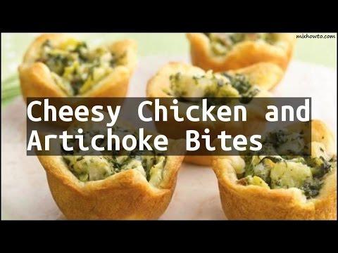 Recipe Cheesy Chicken and Artichoke Bites