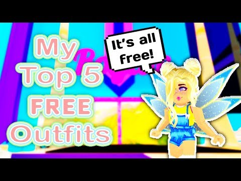 MY TOP 5 BEST FREE OUTFITS IN ROYALE HIGH SCHOOL // Roblox Royale High School // Roblox Top 5