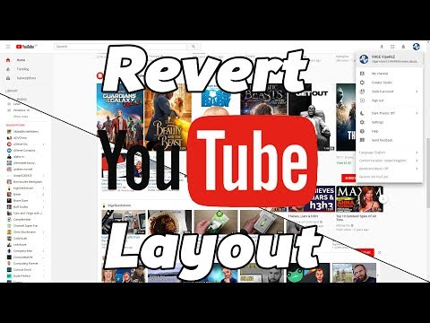 How to change to the old YouTube layout