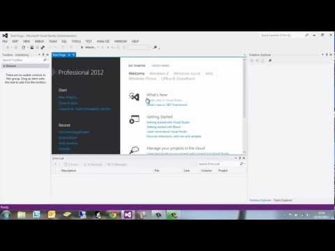 VB.NET Visual Studio 2012 - #1 Create Console Application - HD 720p
