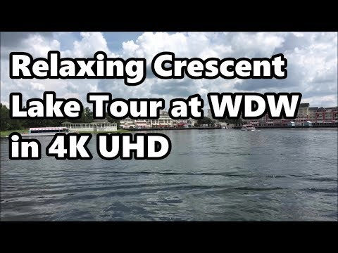 Relaxing Crecent Lake Tour in 4K   Walt Disney World   Featuring Boardwalk and Yacht Club Resorts