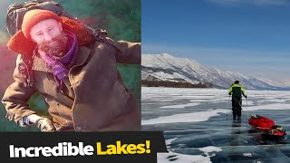 Man Walks Across Ice On World's Deepest Lake! 😱