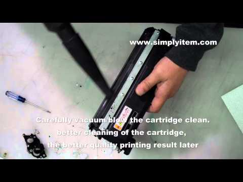 How to refill the Brother TN-210 toner cartridges