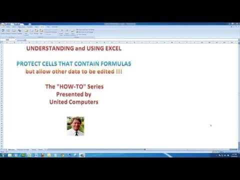 Protect cells containing formulas in Excel 2013, 2010 and 2007 - learn in 6 minutes!!
