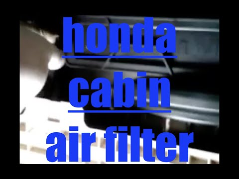 How to replace cabin air filter Honda Accord √