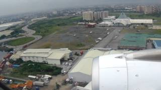 Morning landing at Ninoy Aquino International Airport (Manila)