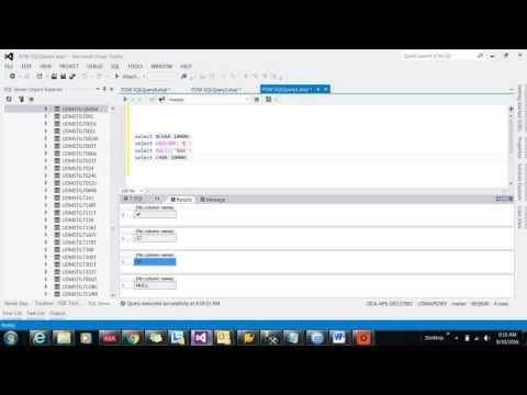 String Functions in SQL Server part-III || NCHAR, UNICODE, PATINDEX, QUOTENAME functions in SQL
