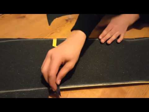 How to do cut-out griptape art.