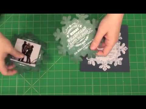 Create Snowflake shaped Christmas Cards and Invitations