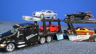 Fast & Furious Peterbilt Model 387 Hauler and Car Carrier From Jada Jada Toys