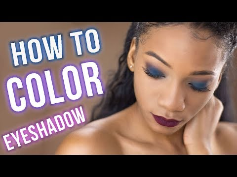 HOW TO: Apply COLOR Eyeshadow for Beginners (Easy) 5 steps! | Annesha Adams