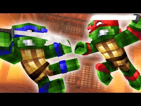 MINECRAFT NINJA TURTLES vs NINJA TURTLES! (Minecraft)