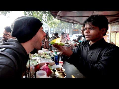 American Tries INDIAN STREET FOOD in Chandni Chowk   Delhi, India