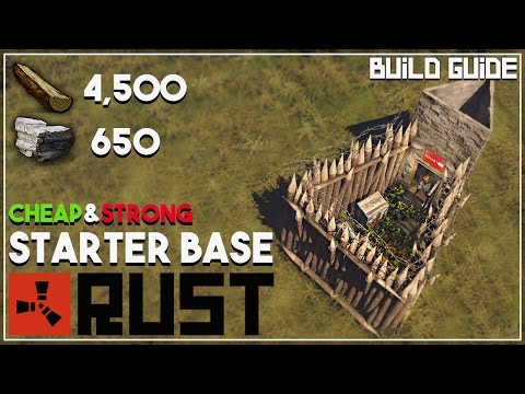 The BEST CHEAP Starter Base in RUST | Base Building