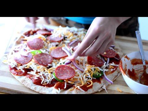 LOW FAT PIZZA ( USING PITA)