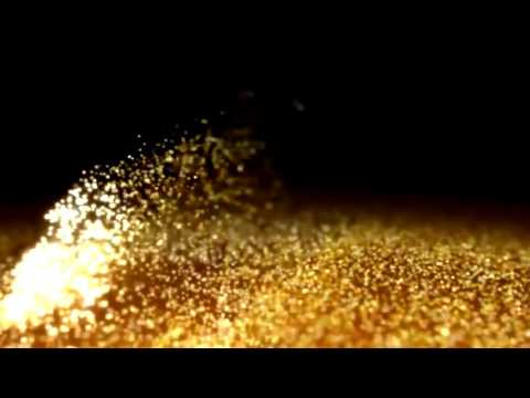 Footage Background Gold Dust