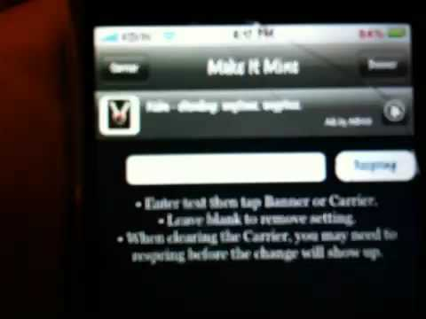 How To Change iPhone/iPod Carrier's And Banner's Name