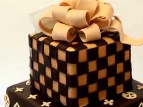 How to make cake Louis Vuitton Tiered Cake   Custom Cake