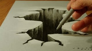 Drawing 3D Hole, Illusionistic Art on Paper