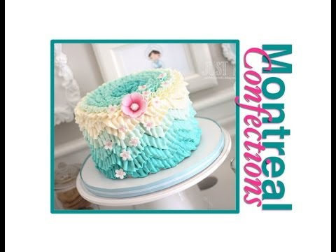 How to make a chevron pattern on a cake - Ombre Ruffle Cake Decorating
