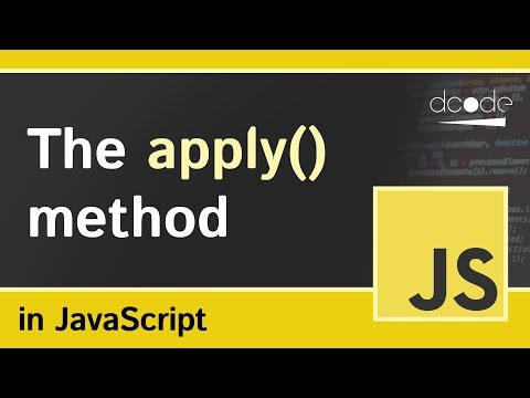 The 'apply' method in JavaScript | Function Apply Explained