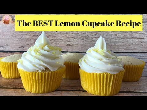 Lemon Cupcake Recipe | How To Make Lemon Cupcakes | Sweet Tooth Cupcakes