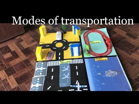 How to make project on Transportation    Kids project   school project