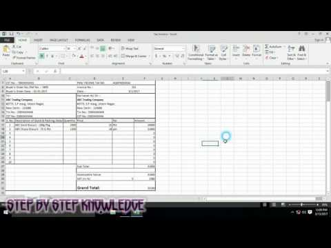 Tax Invoice   how to create tax invoice in excel step by Step   Tax invoice template