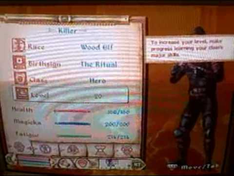 oblivion easy way to level up and get magicka