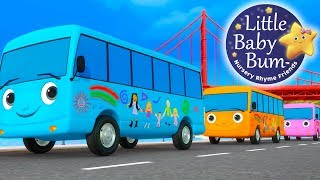 Ten Little Buses | Part 4 | Nursery Rhymes | By LittleBabyBum!