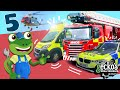 Gecko's Top 5 Emergency Vehicles Trucks For Kids Gecko's Real Vehicles Learning & Educational Videos