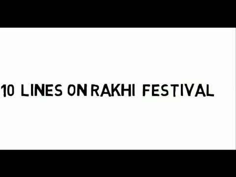10 lines on Raksha Bandhan festival of India in English for kids in education channel by ritashu