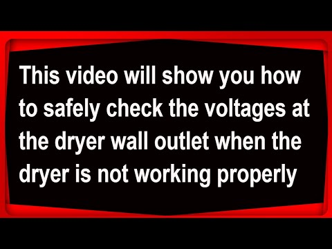 How to check the voltages in a dryer wall outlet