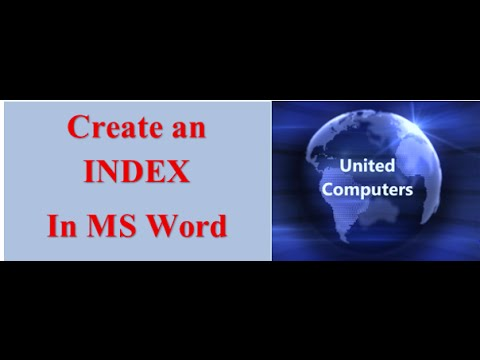 How to create an index in Microsoft Word  Learn in a few minutes