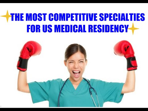 Competitive Specialties  US  Medical Residency