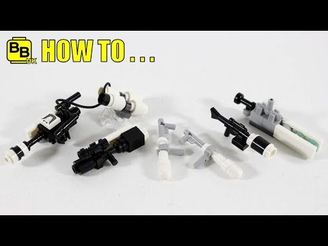 HOW TO MAKE LEGO STAR WARS FIRST ORDER MINIFIGURE WEAPONS!