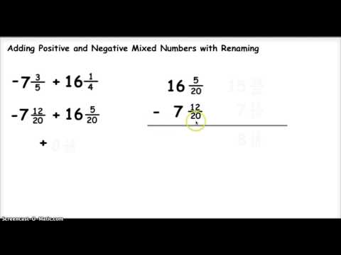Adding Positive and Negative Mixed Numbers 1