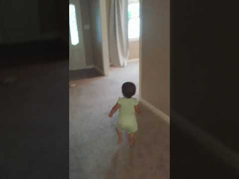 Funny Cute Baby Falls like a Fainting Goat when Scared