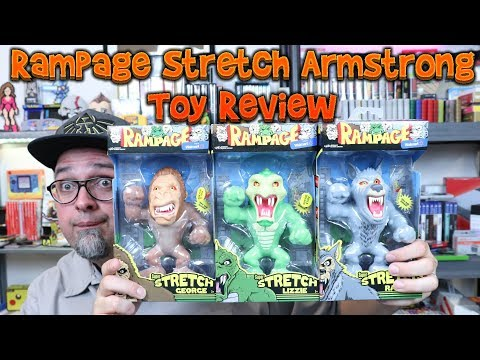 Rampage Video Game Stretch Armstrong Figures! We Pop One Open... Toy Review!