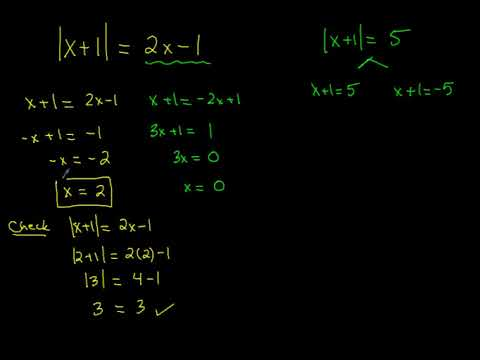 Solving Absolute Value Equations With Expressions On The Other Side