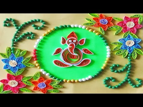 quilling artwork | How to make Paper Quilling Greeting Card for Divali