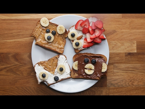 Animal Toast 4 Ways