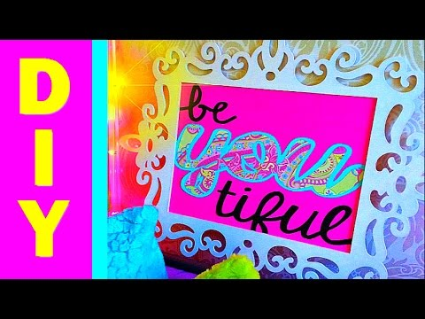 DIY Wall Art and Room Decoration :: Frame Ideas :: Inspirational Quote :: 2CupsofDelight