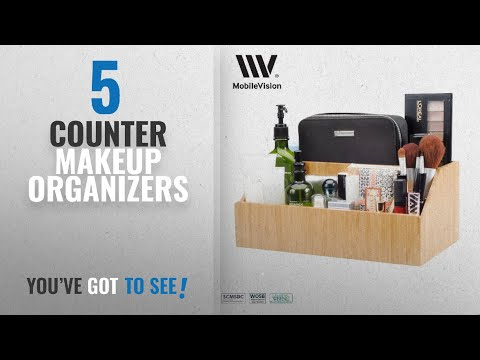 Top 10 Counter Makeup Organizers [2018]: MobileVision Bamboo Make Up Organizer & Cosmetic Holder,