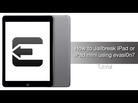 How to Jailbreak iPad Air, Retina iPad mini, iPad 4, 3, 2 on iOS 7 - iOS 7.0.4 with evasi0n7