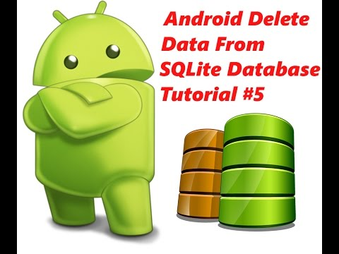 Android Delete Record From SQLite Database Tutorial #5