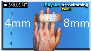 Swimming with open or closed fingers? physics of swimming part 3