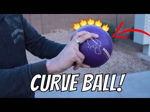 How To Throw Foam Dodgeball FAST AND HARD CURVEBALL!