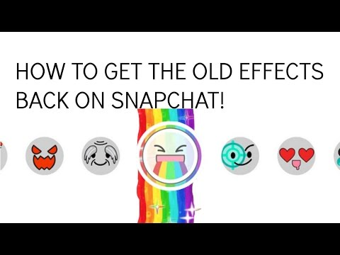 HOW TO GET THE OLD SNAPCHAT EFFECTS/LENSES BACK FOR FREE! (Puking Rainbows, Robot, Demon, etc.)