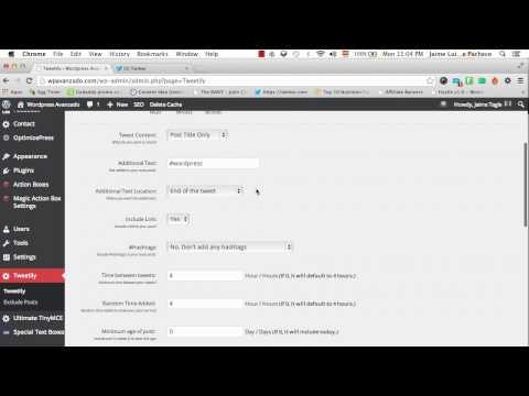 Cómo Publicar Tweets Automáticamente en tu Blog de Wordpress